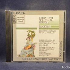 CDs de Música: CHRISTOPH WILLIBALD GLUCK, POULENARD, SCHOLA CANTORUM BASILIENSIS, RENÉ JACOBS - LE CINESI - CD. Lote 288013518