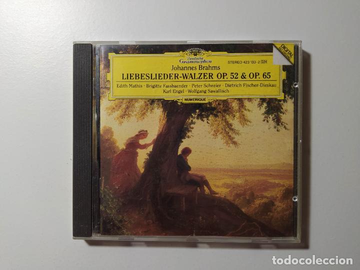 JOHANNES BRAHMS. LIEBESLIEDER WALZER OP. 52 65. EDITH MATHIS. CD. DEUTSCHE GRAMMOPHON. TDKCD56 (Música - CD's Clásica, Ópera, Zarzuela y Marchas)