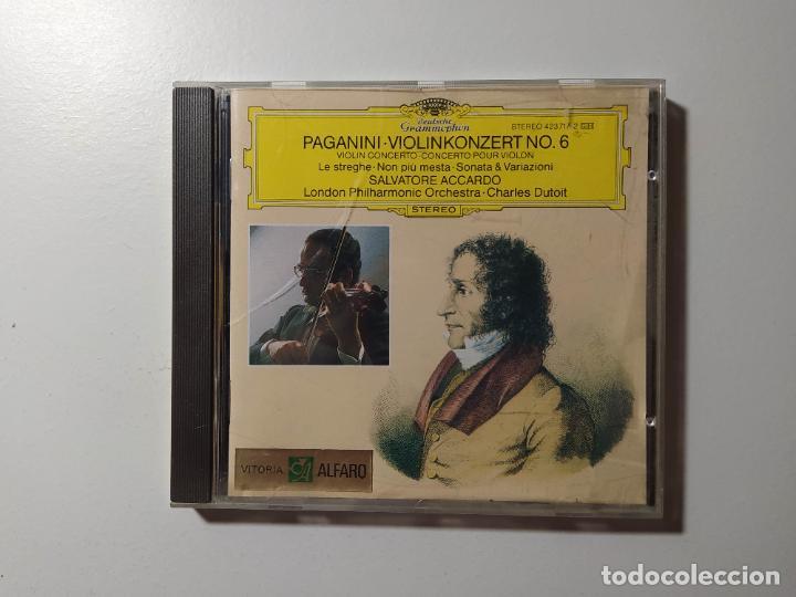 PAGANINI. VIOLINKONZERT NO. 6. VIOLIN CONCERTO. SALVATORE ACCARDO. CD DEUTSCHE GRAMMOPHON. TDKCD56 (Música - CD's Clásica, Ópera, Zarzuela y Marchas)