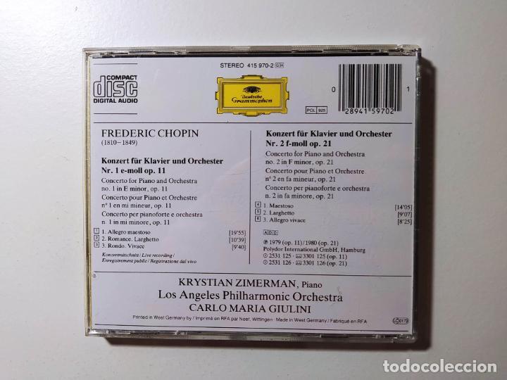 CDs de Música: CHOPIN. KLAVIERKONZERT. Piano Concertos 1 2. LOS ANGELES ORCHESTRA. CD Deutsche Grammophon. TDKCD56 - Foto 3 - 288015003
