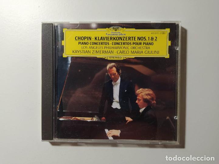 CHOPIN. KLAVIERKONZERT. PIANO CONCERTOS 1 2. LOS ANGELES ORCHESTRA. CD DEUTSCHE GRAMMOPHON. TDKCD56 (Música - CD's Clásica, Ópera, Zarzuela y Marchas)