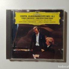 CDs de Música: CHOPIN. KLAVIERKONZERT. PIANO CONCERTOS 1 2. LOS ANGELES ORCHESTRA. CD DEUTSCHE GRAMMOPHON. TDKCD56. Lote 288015003
