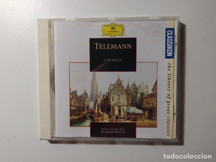 TELEMANN. CONCERTOS. MUSICA ANTIQUA KOLN. REINHARD GOEBEL. CD. DEUTSCHE GRAMMOPHON. TDKCD56 (Música - CD's Clásica, Ópera, Zarzuela y Marchas)