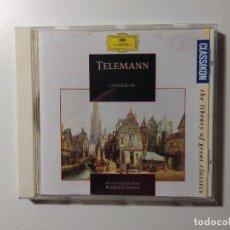 CDs de Música: TELEMANN. CONCERTOS. MUSICA ANTIQUA KOLN. REINHARD GOEBEL. CD. DEUTSCHE GRAMMOPHON. TDKCD56. Lote 288015523