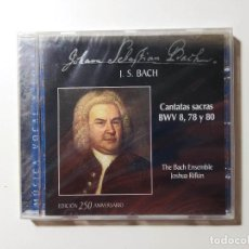 CDs de Música: JOHANN SEBASTIAN BACH - CANTATAS SACRAS BWV 8, 78, 80. JOSHUA RIFKIN. CD. NUEVO. TDKCD56. Lote 288015933