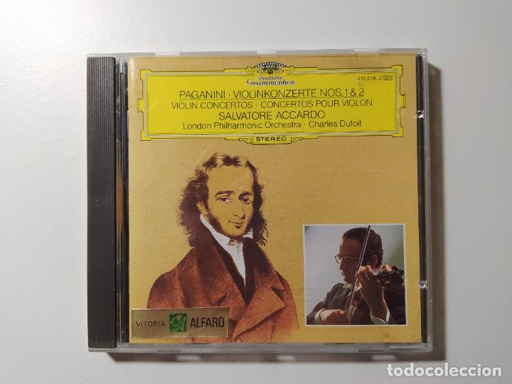 PAGANINI - VIOLINKONZERTE NOS 1 Y 2 SALVATORE ACCARDO. DEUTSHCE GRAMMOPHON. C. DUTOIT. CD TDKCD56 (Música - CD's Clásica, Ópera, Zarzuela y Marchas)