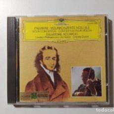 CDs de Música: PAGANINI - VIOLINKONZERTE NOS 1 Y 2 SALVATORE ACCARDO. DEUTSHCE GRAMMOPHON. C. DUTOIT. CD TDKCD56. Lote 288016273