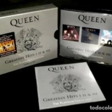 CDs de Música: C115 - QUEEN. GREATEST HITS (I+II+III). THE DEFINITIVE PLATINUM COLLECTION. SET PACK TRIPLE. 3 CDS.. Lote 288088693