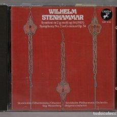 CDs de Música: CD. STIG WESTERBERG. SYMPHONY NO. 2 IN G MINOR. STEHAMMAR. Lote 288100418