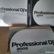 CDs de Música: PROFESSIONAL DJ'S 2003 VOL.5. 4 CDS (EN PERFECTO ESTADO). Lote 288114973