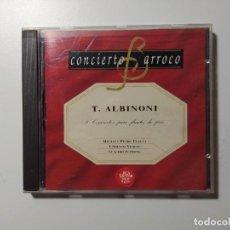 CDs de Música: CONCIERTO BARROCO. T. ALBINONI. 8 CONCIERTOS PARA FLAUTA DE PICO. CD. TDKCD59. Lote 288133738