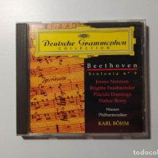 CDs de Música: BEETHOVEN - SINFONIA Nº 9. FILARMONICA DE VIENA. KARL BOHM. DEUTSCHE GRAMMOPHON. CD. TDKCD58. Lote 288148578