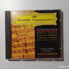 CDs de Música: TCHAIKOVSKY. ROMEO JULIETA. FRANCESCA DA RIMINI. DANIEL BARENBOIM. DEUTSCHE GRAMMOPHON CD TDKCD58. Lote 288149148