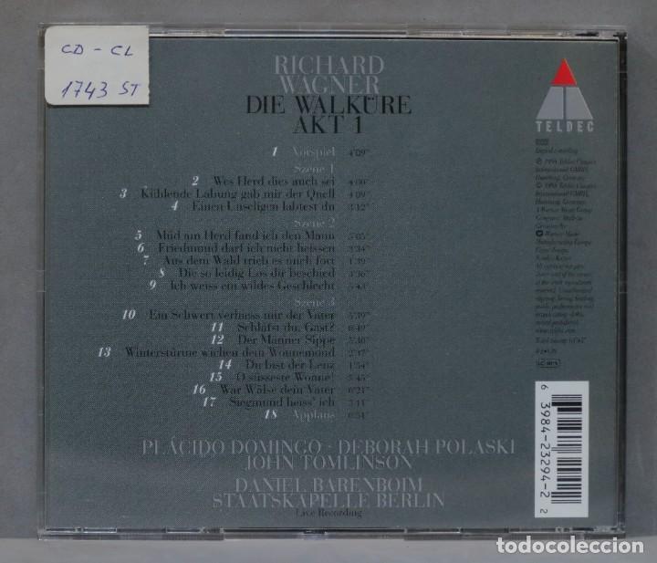 CDs de Música: CD. Die Walküre Akt 1. WAGNER. BARENBOIM - Foto 2 - 288149258