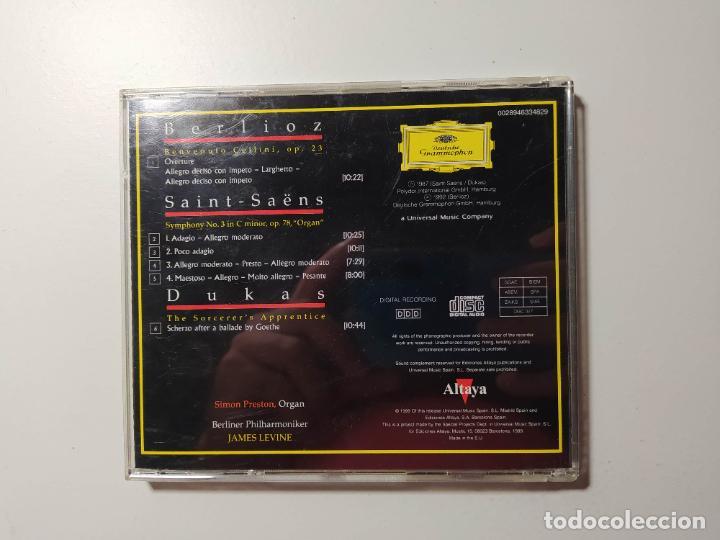 CDs de Música: BERLIOZ. SAINT-SAENS. DUKAS. SIMON PRESTON. ORQUESTA BERLIN DEUTSCHE GRAMMOPHON JAMES LEVINE TDKCD58 - Foto 3 - 288149383
