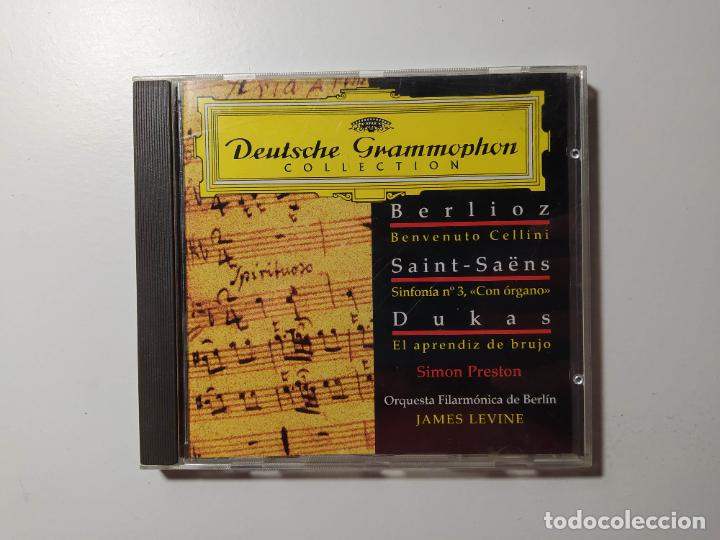 BERLIOZ. SAINT-SAENS. DUKAS. SIMON PRESTON. ORQUESTA BERLIN DEUTSCHE GRAMMOPHON JAMES LEVINE TDKCD58 (Música - CD's Clásica, Ópera, Zarzuela y Marchas)