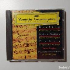 CDs de Música: BERLIOZ. SAINT-SAENS. DUKAS. SIMON PRESTON. ORQUESTA BERLIN DEUTSCHE GRAMMOPHON JAMES LEVINE TDKCD58. Lote 288149383