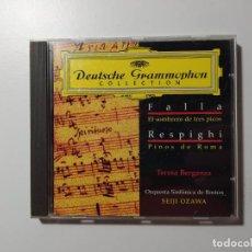 CDs de Música: FALLA, RESPIGHI. SEIJI OZAWA. TERESA BERGANZA. CD DEUTSCHE GRAMMOPHON. ORQUESTA BOSTON. TDKCD58. Lote 288149603