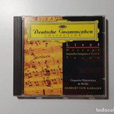 CDs de Música: LISZT. MAZEPPA. RAPSODIAS HUNGARAS. ORQUESTA BERLIN. KARAJAN. DEUTSCHE GRAMMOPHON CD. TDKCD58. Lote 288149808