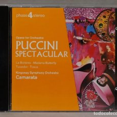 CDs de Música: CD. THE KINGSWAY SYMPHONY ORCHESTRA. TUTTI CAMARATA. PUCCINI SPECTACULAR. Lote 288150043