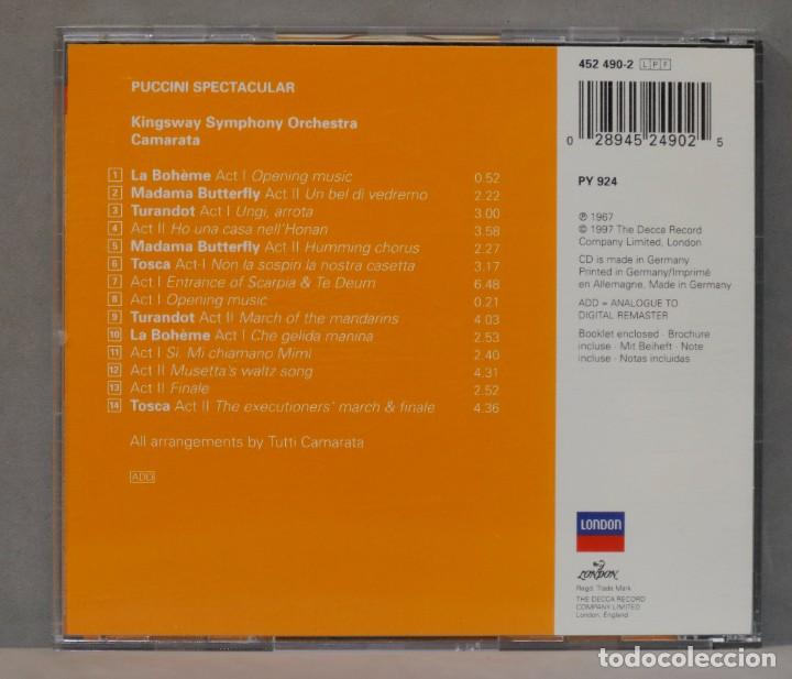 CDs de Música: CD. The Kingsway Symphony Orchestra. Tutti Camarata. Puccini Spectacular - Foto 2 - 288150043