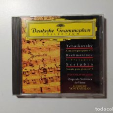 CDs de Música: TCHAIKOVSKY. RACHMANINOV. SCRIABIN. SVIATOSLAV RICHTER. KARAJAN. DEUTSCHE GRAMMOPHON. CD. TDKCD58. Lote 288150128