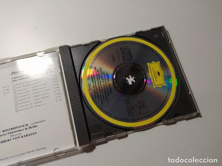 CDs de Música: GRANDES INTERPRETES. ROSTROPOVICH. DVORAK. TCHAIKOVSKY. ORQUESTA BERLIN. DEUTSCHE GRAMMOPHON TDKCD58 - Foto 3 - 288150418