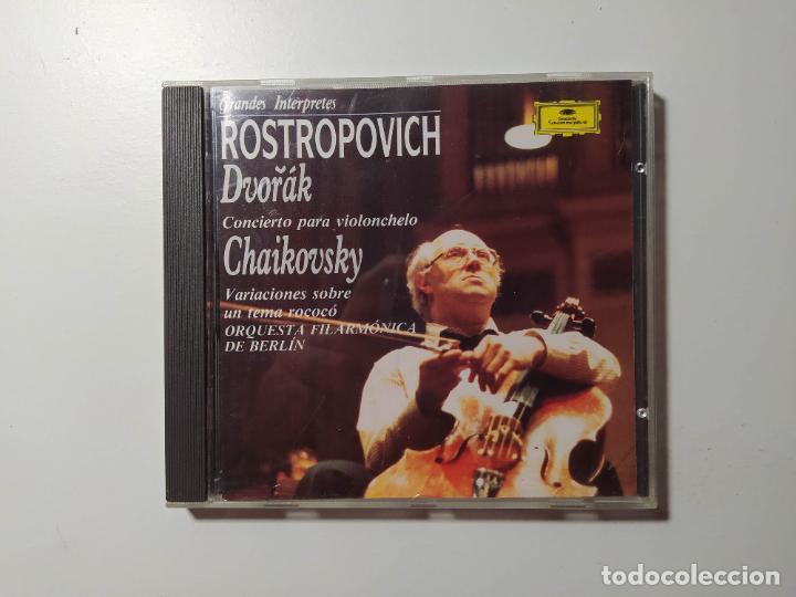 GRANDES INTERPRETES. ROSTROPOVICH. DVORAK. TCHAIKOVSKY. ORQUESTA BERLIN. DEUTSCHE GRAMMOPHON TDKCD58 (Música - CD's Clásica, Ópera, Zarzuela y Marchas)