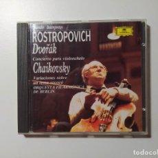 CDs de Música: GRANDES INTERPRETES. ROSTROPOVICH. DVORAK. TCHAIKOVSKY. ORQUESTA BERLIN. DEUTSCHE GRAMMOPHON TDKCD58. Lote 288150418