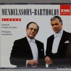 CDs de Música: 2 CD. CD MENDELSSOHN-BARTHOLDY. LIEDER. Lote 288150543