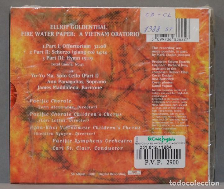 CDs de Música: CD. Goldenthal. Fire Water Paper - Foto 2 - 288150743