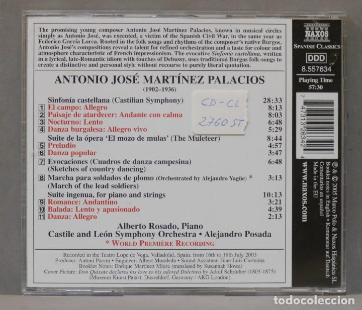 CDs de Música: CD. ANTONIO JOSE. SINFONIA CASTELLANA - Foto 2 - 288150943