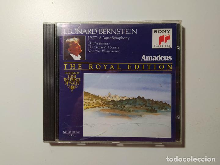 THE ROYAL EDITION. LEONARD BERNSTEIN. LISZT. A FAUST SYMPHONY. NEW YORK PHILHARMONIC. CD. TDKCD58 (Música - CD's Clásica, Ópera, Zarzuela y Marchas)