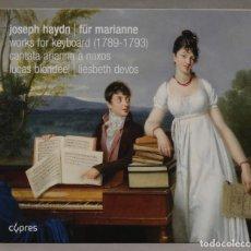 CDs de Música: CD. FUR MARIANNE. WORKS FOR KEYBOARD. CANTATA ARIANNA A NAXOS. Lote 288151323