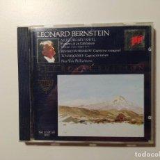 CDs de Música: THE ROYAL EDITION. LEONARD BERNSTEIN. MUSSORGSKY. RAVEL. NEW YORK PHILHARMONIC. CD. TDKCD58. Lote 288151393
