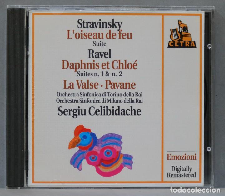 CD. SERGIU CELIBIDACHE. STRAVINSKY .RAVEL (Música - CD's Clásica, Ópera, Zarzuela y Marchas)