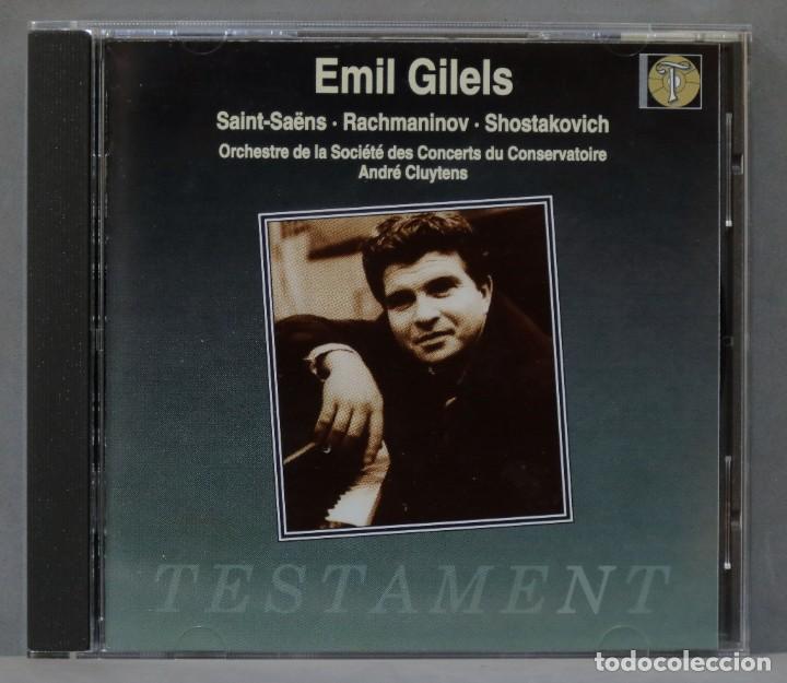 CD. CLUYTENS. SAINT-SAËNS. RACHMANINOV. SHOSTAKOVICH. GILELS (Música - CD's Clásica, Ópera, Zarzuela y Marchas)