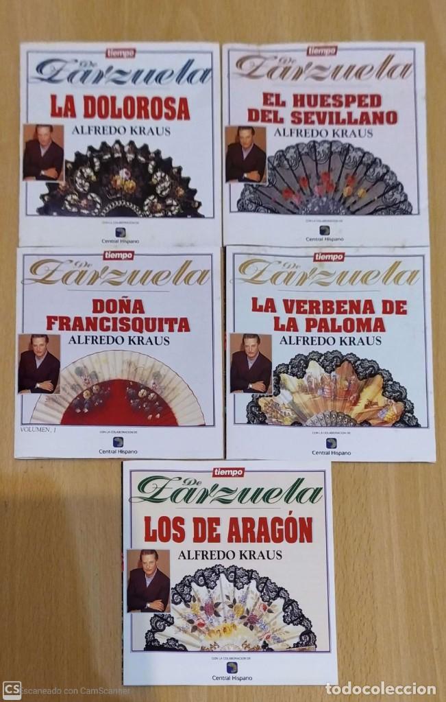 LOTE 5 CD'S TIEMPO DE ZARZUELA (ALFREDO KRAUS) (Música - CD's Clásica, Ópera, Zarzuela y Marchas)