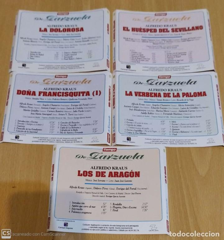 CDs de Música: LOTE 5 CDs TIEMPO DE ZARZUELA (ALFREDO KRAUS) - Foto 2 - 288161563