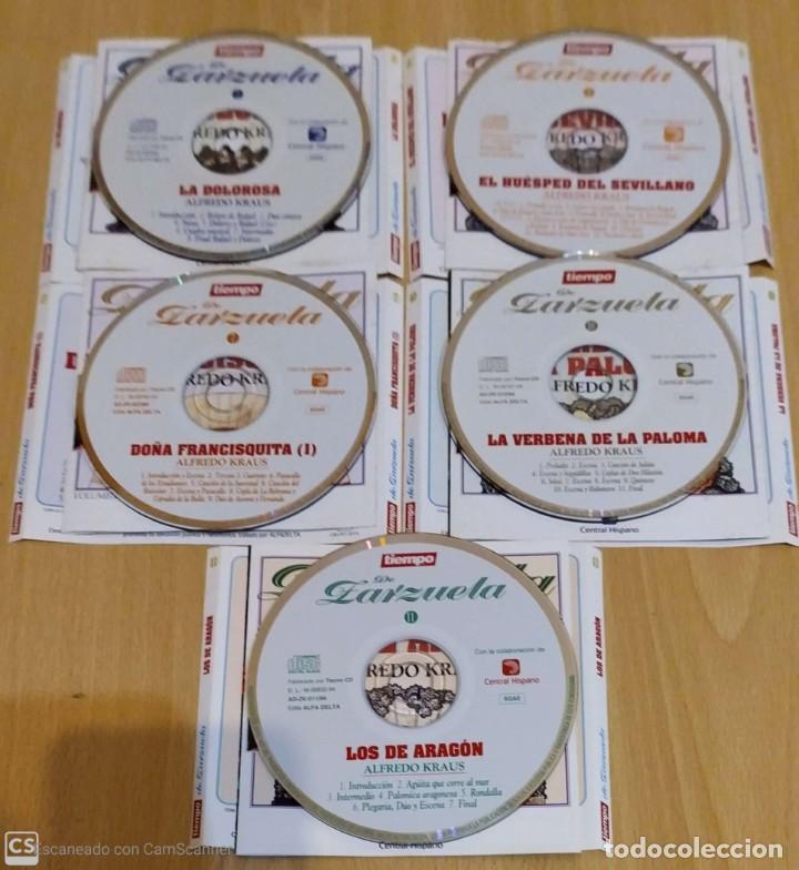 CDs de Música: LOTE 5 CDs TIEMPO DE ZARZUELA (ALFREDO KRAUS) - Foto 3 - 288161563