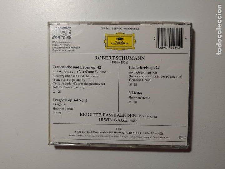 CDs de Música: Schumann. Frauenliebe und leben. op 42 Líederkreis op 24. Irwin Gage. Deutsche Grammophon cd TDKCD57 - Foto 3 - 288161688