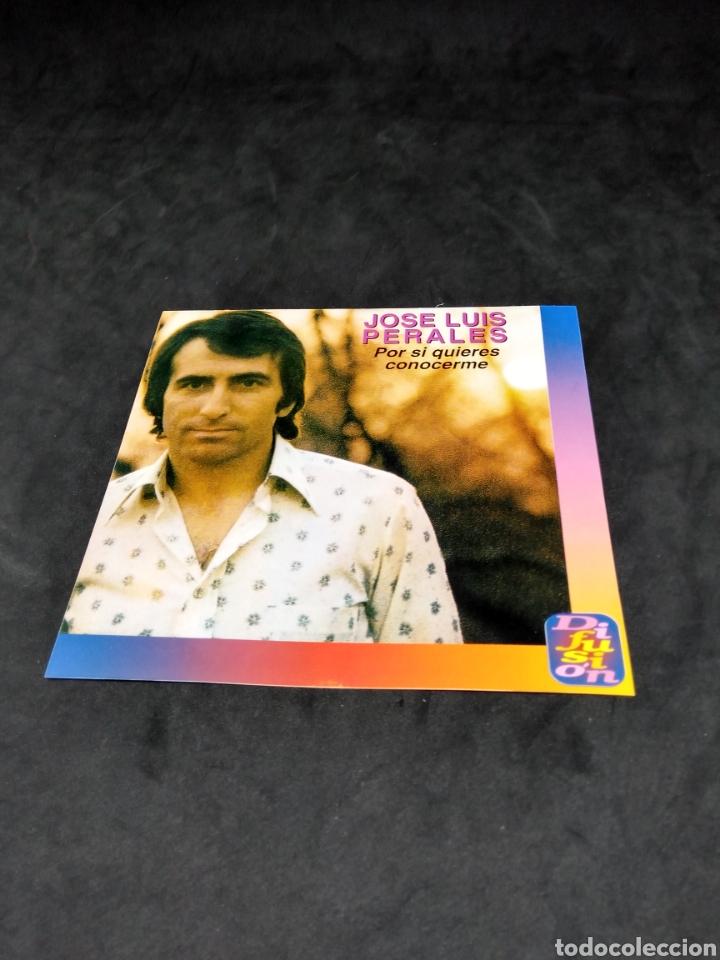 CDs de Música: JOSE LUIS PERALES - POR SI QUIERES CONOCERME - CD - 1995 - DIFUSION - DISCO COMPROBADO - Foto 3 - 288161763