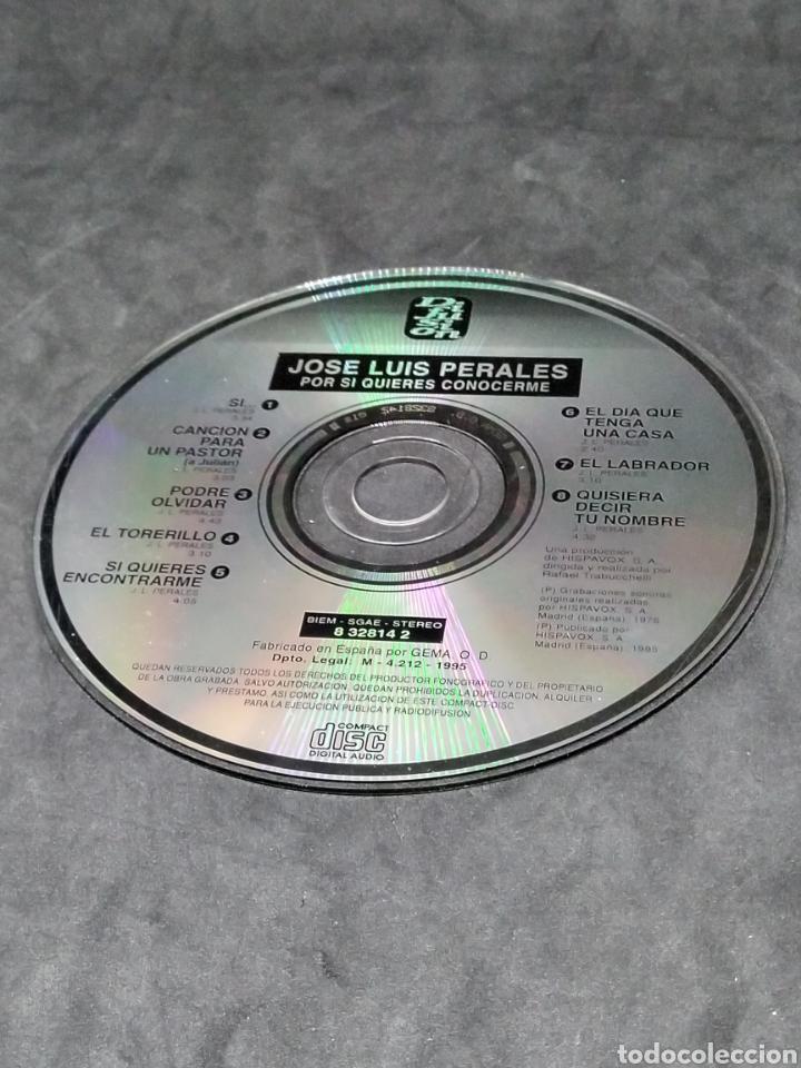 CDs de Música: JOSE LUIS PERALES - POR SI QUIERES CONOCERME - CD - 1995 - DIFUSION - DISCO COMPROBADO - Foto 4 - 288161763