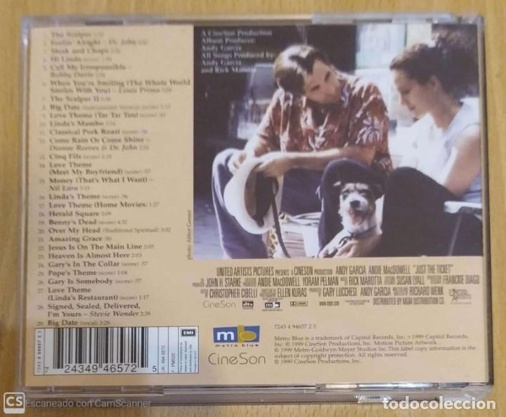 CDs de Música: B.S.O. JUST THE TICKET - CD 1999 - STEVIE WONDER, ANDY GARCIA - Foto 2 - 288170073
