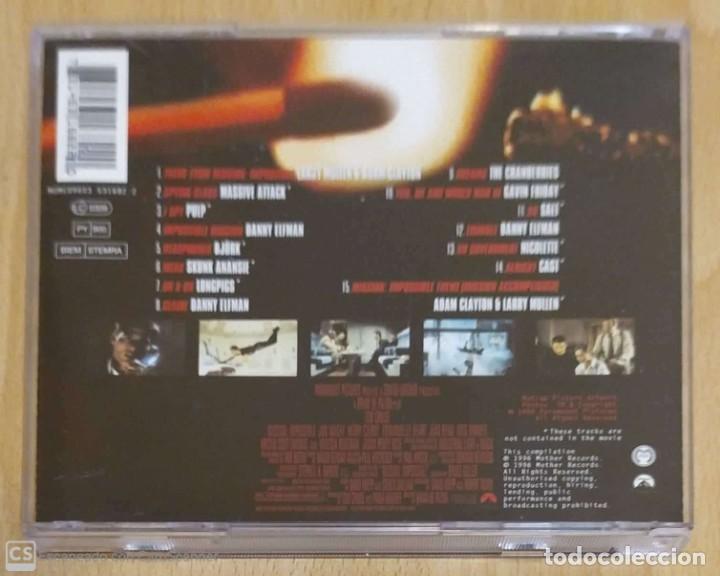 CDs de Música: B.S.O. MISSION: IMPOSSIBLE - CD 1996 (THE CRANBERRIES, PULP, BJORK, NICOLETTE, MASSIVE ATTACK...) - Foto 2 - 288170218