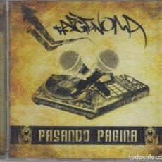 CDs de Música: RAPGENOMA CD PASANDO PÁGINA 2009. Lote 288197143
