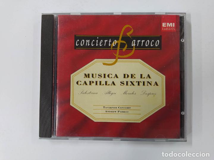 CONCIERTO BARROCO. MUSICA DE LA CAPILLA SIXTINA. PALESTRINA. ALLEGRI. MORALES. DESPREZ. CD. TDKCD61 (Música - CD's Clásica, Ópera, Zarzuela y Marchas)