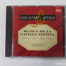 CDs de Música: CONCIERTO BARROCO. MUSICA DE LA CAPILLA SIXTINA. PALESTRINA. ALLEGRI. MORALES. DESPREZ. CD. TDKCD61. Lote 288201268