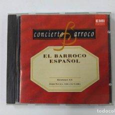 CDs de Música: CONCIERTO BARROCO. EL BARROCO ESPAÑOL CD. HESPERION XX. JORDI SAVALL.VIOLA DA GAMBA. TDKCD61. Lote 288202493