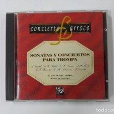 CDs de Música: CONCIERTO BARROCO - SONATAS Y CONCIERTOS PARA TROMPA - VIVALDI - STÖLZEL - GRAUN. CD TDKCD62. Lote 288207103
